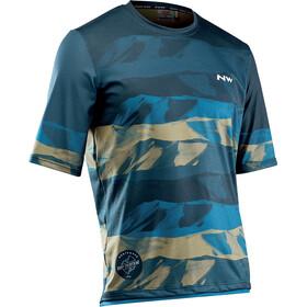 Northwave Xtrail MTB Jersey Lyhythihainen Miehet, blue/khaki